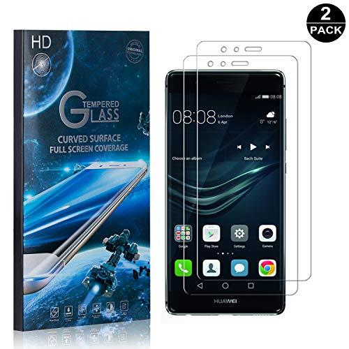 Bear Village® Displayschutzfolie für Huawei P9, 9H Hart Panzerglasfolie, Anti Kratzen, 99% Transparente Schutzfilm aus Gehärtetem Glas für Huawei P9, 2 Stück