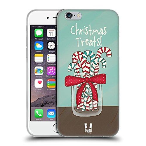 Head Case Designs Dolcetti Follia di Natale Cover in Morbido Gel e Sfondo di Design Abbinato Compatibile con Apple iPhone 6 / iPhone 6s