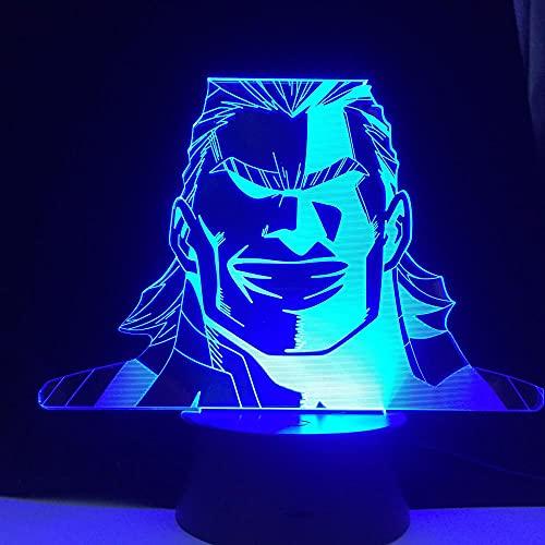 3D Luz nocturna de dibujos animados Figura 3D USB Lámpara LED RGB Luz nocturna de cumpleaños Decoración Regalo para amigos Gaming Room Mesa Colorida Lava Luces Niños Niñas Anime