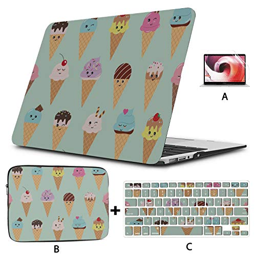 A1534 Macbook Case Colorful Baby Ice Cream 2017 Macbook Pro Case Hard Shell Mac Air 11'/13' Pro 13'/15'/16' With Notebook Sleeve Bag For Macbook 2008-2020 Version
