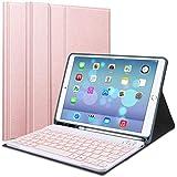 Lachesis Funda de Teclado para iPad 10.2 de 8ª/7ª generación, Soporte para bolígrafo Integrado, Funda Protectora Delgada con 7 Colores, Teclado magnético Desmontable Bluetooth para 2020/2019 de 10.2