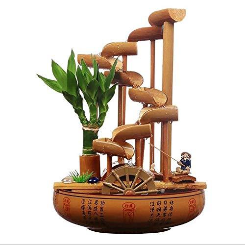 Decoración de Fuente de bambú, decoración de jardín, Cascada, jardín japonés al Aire Libre con bambú Liso Resistente a la Fractura para una Fuente de Bricolaje Zen
