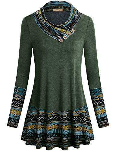 Product Image of the Miusey Tunic Sweater for Women,Juniors Winter Clothes Dressy Long Tunic Blouse...