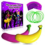 Bachelorette Party Games Bundle by Viribus | Inflatable Ring Toss Rodeo Game | 20 Drink If and Scratch Off Dare Cards | for Girls Night Out, Bride to Be and Bridal Shower Gifts