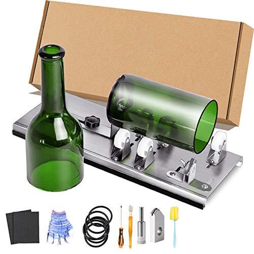 Herramientas de Corte de Vidrio Kit de Cortador de Botellas de Vidrio de Bricolaje, Máquina de corte de botellas mejorada Artesanía casera Herramientas de paquete de cortador de vidrio de bricolaje