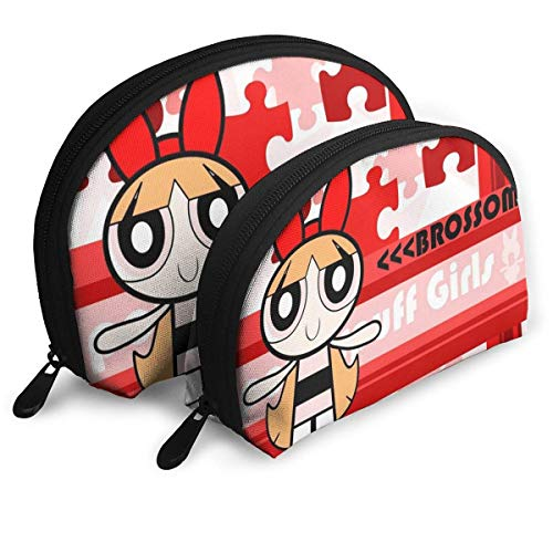 Almost-Okay-Shop Leichte Powerpuff Girls Reisetasche Professionelle Kosmetiktaschen Reisetasche Beauty Kulturbeutel Organizer Case für Frauen