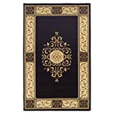 SUPERIOR Elegant Medallion Area Rug Collection 8X10 Rug, Coffee