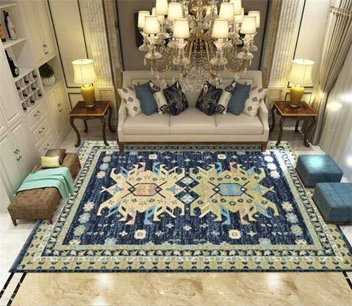 LUCHAO Marruecos Alfombra de la Sala nórdica Dormitorio Alfombra Decoración de sofá Mesa Baja de la Estera del Piso Sala de Estudio de época Persa Alfombras (Color : 8, Talla : 200x300cm)