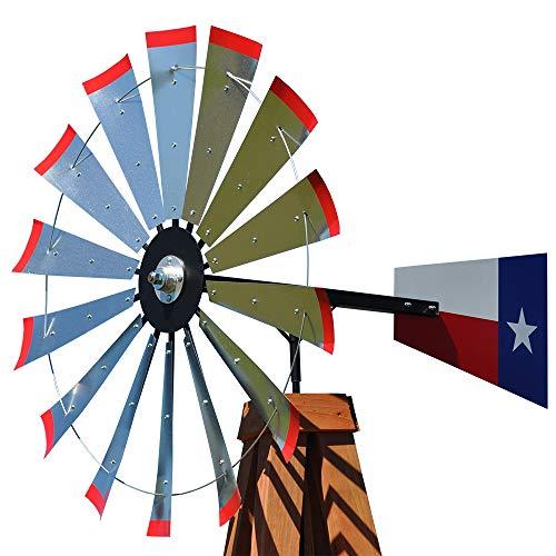 47-inch Windmill Head w/Texas Flag Rudder & Instructions to Build a 15-Foot Tall Windmill