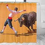 Cortina de ducha Cordoba de España Museo Taurino Decoración de baño con ganchos Poliéster 72x72 pulgadas (YL-05263)