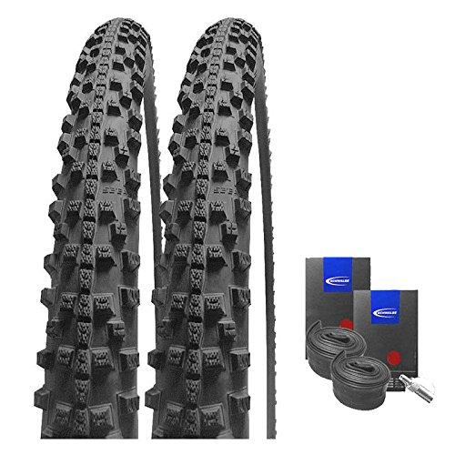 Set: 2 x Schwalbe Smart Sam Plus Pannenschutz Reifen 42-622 / 28x1.60 + Schwalbe SCHLÄUCHE Dunlopventil