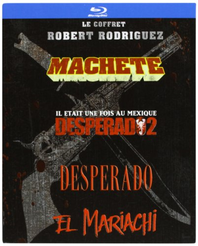Robert Rodriguez Collection - 4-Disc Box Set ( Machete / Once Upon a Time in Mexico / Desperado / El Mariachi ) ( Machete / Legend of Mexico / Pistolero / El Mar [ Blu-Ray, Reg.A/B/C Import - France ]