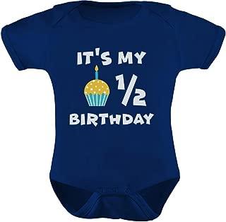 Tstars - It's My Half Birthday Outfit for Baby 1/2 Birthday Gift Baby Bodysuit