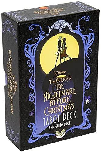 YQRX La Pesadilla Antes de Navidad Tarot Deck, Adecuada para reuniones Familiares y de Amigos, Tarjetas de Tarot y Conjuntos de Libros introductorios de 78 Piezas/Set (Bolsa, Mantel)