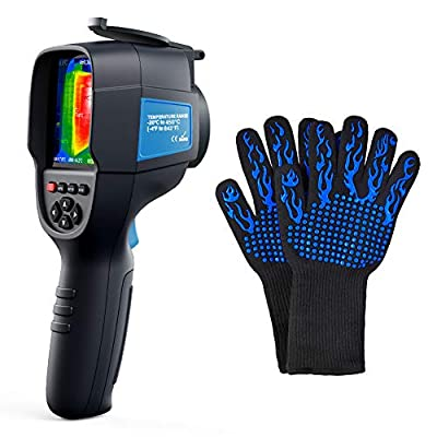Infrared Thermal Imager TOPDON ITC629 with -20? - 450? Test Range, 35×26°Field of View, 4 Emissivity Setting, 220×160 Thermal Imaging Camera for Home/Electricity Check + Isulation Gloves