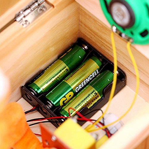 Amyove Wooden Useless Box Leave Me Alone Box Die Meisten Nutzlosen Maschine Berühren Sie Nicht Tiger Toy Geschenk Mit Sound
