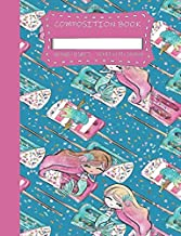 Composition Book: Mermaid Summer Madness   Premium Girls Composition Notebook   Wide Ruled Journal and Diary   Aquatic Couture Series