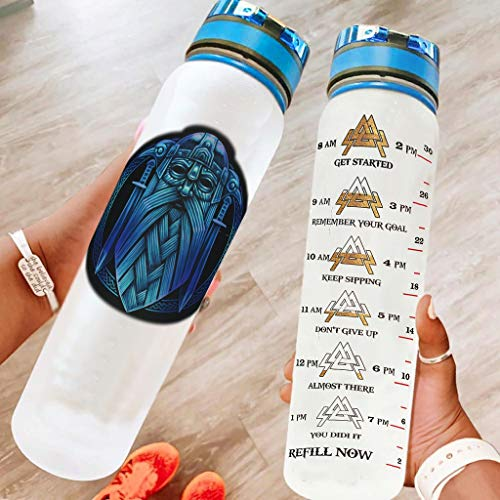 BTJC88 Botella de agua deportiva grande con correa de transporte, botella reutilizable adecuada para fitness Gym White 1000 ml