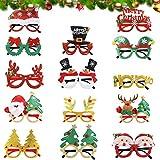 14PCS ¡Feliz Navidad Gafas, Daiweier Accesorios Para Fotos De Navidad, Decorativas Navide...