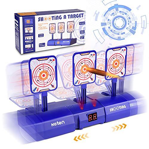 Keten (2019 nieuwe editie) Elektrisch digitaal bewegend doelwit voor Nerf Guns, links en rechts bewegend doelwit voor schieten met lichtgeluidseffect voor Nerf Guns Blaster N-Strike Elite / Mega / Rival Series