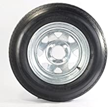 2-Pk Trailer Tire Rim 5.30-12 12 in. Load C 4 Lug Galvanized Spoke Wheel