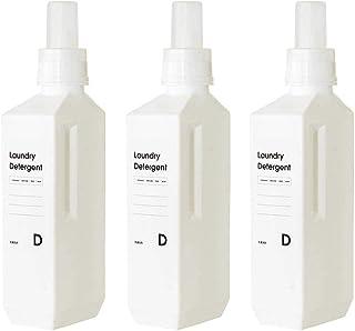 set-ls024x3wh-ttt/セット販売●b2c ランドリーボトル L 1000ml 3本入り ホワイト|サラサデザイン ランドリーボトル 洗剤 ボトル 詰め替え 洗濯洗剤