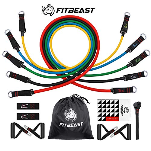 FitBeast-Exercise-Resistance-Bands-Set, Up to 100 lbs Fitness Stretch...