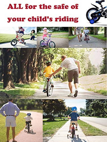 Stronger Version Replacement Adjustable Bicycles Stabilizer for Children Suitable for 12//14// 16//18// 20// inch Bike Childrens Single Speed Bikes Bicycle Training Wheels for Kids