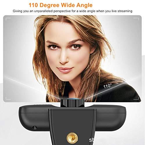 Full HD 1080P Webcam Con Micrófono Para PC, Cámara Web Con Cubierta de Privacidad y Trípode, USB Plug Play Cámara Webcam Ordenador para Videollamadas, Estudio, Conferencia, Juego miniatura