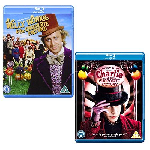 Willy Wonka & The Chocolate Factory - Charlie Abd The Chocolate Factory - 2 Movie Bundling Blu-ray