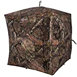 Ameristep Brickhouse 3 Person Ground Hunting Concealment Blind, Mossy Oak