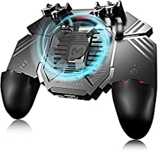 Game Controller, Game Pad Sensitive L1R1 Shoot and Aim Keys Joysticks Shooter Controller for PUBG/Knives Out/Rules of Survial Gaming Triggers for iOS and Android (Color : Black)