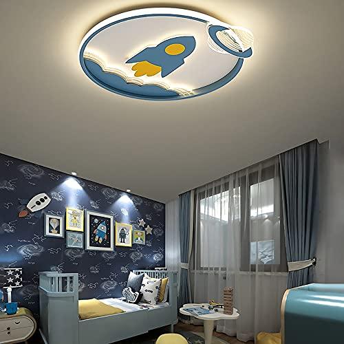 Pendiente de la lámpara dormitorio dormitorio, creativo diseño de dibujos animados azul avión de dibujos animados, los países nórdicos Impulsado lámpara de techo de intensidad regulable for niños de B