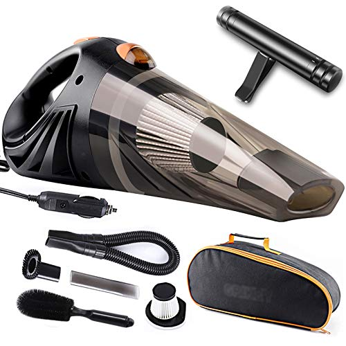 TGhosts Aspirador portátil de la aspiradora, Mini Coche de vacío automático Auto 4.8KPA Aspirador de Mano para el Coche portátil Cleadera de vacío 12V