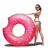 QYWSJ Flotador para Piscina Donut Chocolate, Anillo Nadar, Juguete Acuático Verano Anillo Nadar Forma Donut, Flotador Inflable Juguetes Piscina, Adultos y Niños (Tamaños Múltiples)