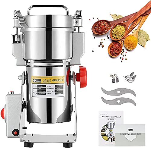CGOLDENWALL 300g High-Speed Electric Grain Grinder