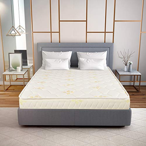 Hush Orthopedic Natural Latex Mattress (72 x 48 x 6 inches) (Double Bed Size) (10 Year Warranty)
