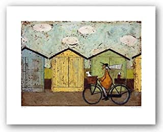 Off for a Breakfast Art Print Landscape Art Poster Print by Sam Toft, Overall Size: 19.75x15.75, Image Size: 15.75x11.25