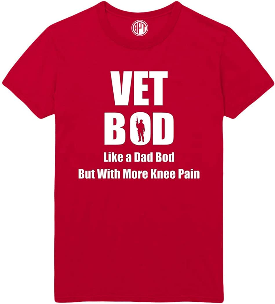 Vet BOD Like a Dad BOD with More Knee Pain Printed T-Shirt