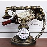 Zcx Cremagliera del Vino Europeo/Retro Stile del Vino Dell'orologio del Telefono di Stile del Ferro Battuto/Cremagliera del Vino Dell'orologio (Color : Bronze)