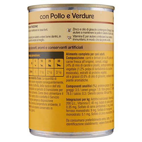Pedigree Straccetti in Salsa con Pollo e Verdure Lattina 400 g - Cibo per Cane - 24 Lattine