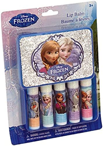 Granny's (c) Frozen 5 count Lip Balm Set with Elsa and Anna Tin Box, 5 Flavors by Disney