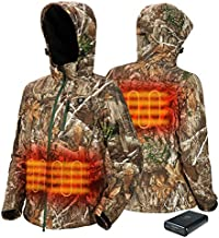 TIDEWE Heated Jacket for Women with Battery Pack, Hunting Coat (Camo Size M)