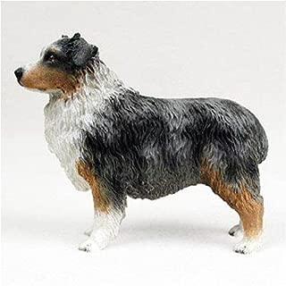 Australian Shepherd, Blue, Docked Original Dog Figurine (4in-5in)