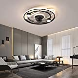 LED Ventilador Techo con Luz Y Mando Silencioso 3 Velocidades con Temporizador Dormitorio Regulable Lamparas Ventilador De Techo Moderno Sala Ventilador Techo con Luz