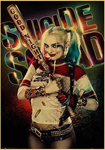 xuhpiar Harley Quinn Clown DIY Handgemalt Ölgemälde Auf Leinwand Geschenk Malen Nach Zahlen Kits Home Haus Dekor-Kein Rahmen 40 * 50 cm