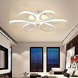 CARYS plafoniera a LED dimmerabile acrilico moderna plafoniera soggiorno pranzo camera da letto cucina a forma di fiore 75W bianco opaco 3000K-6000K [Energy A +]