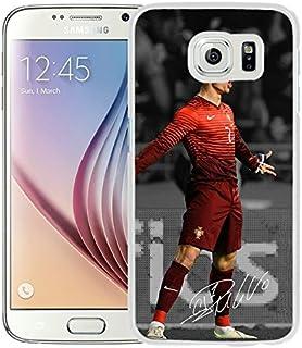 Jugador de fútbol Cristiano Ronaldo 16negro individual Custom Samsung Galaxy S6G9200Funda