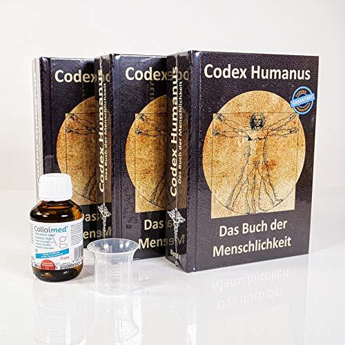 SET : Codex Humanus Das Buch der Menschlichkeit Band 1 2 3 + Colloimed Kolloidales Silber 100ml