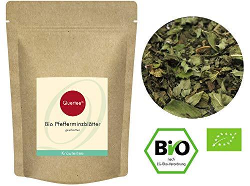Quertee Pfefferminz Bio Pfefferminzblätter geschnitten - Bio Pfefferminz loser Tee (200 g)